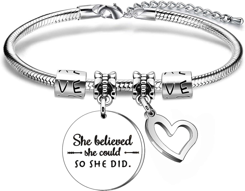 Pulsera con cita inspiradora, regalo para hija, sobrina, hermana, mejor amiga.