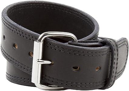 "Genuine Leather Black Color 2 1//2 Wide Sizes 34/"" to 52/"" Gun Belt"