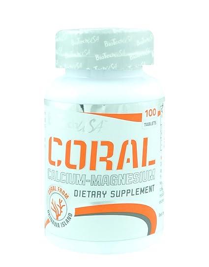 Biotech USA Coral Calcium, Magnesium Vitaminas y Minerales - 1000 gr