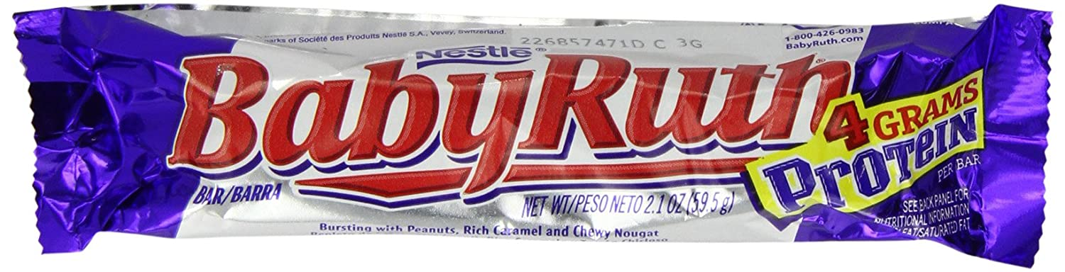 Baby Ruth Bar 59.5 g (Pack of 6)