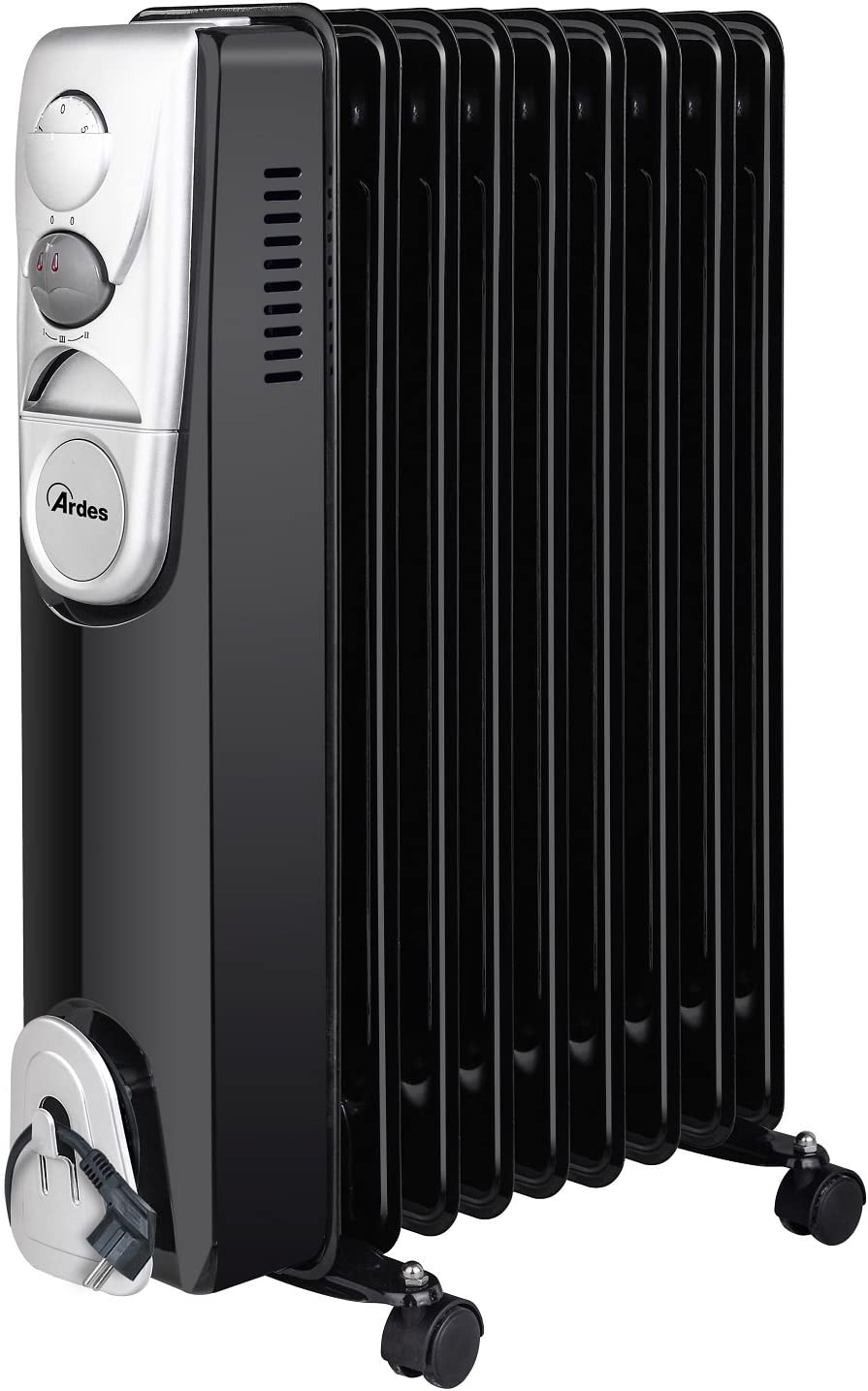 Ardes 4R09B - Calefactor (Oil electric space heater, Aceite, Interior, Piso, Negro, 2000 W)