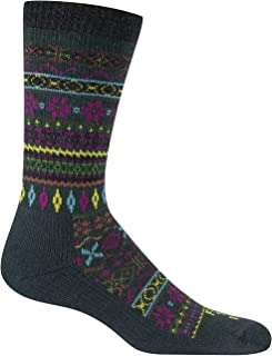 product image for Farm to Feet Women's Lightweight Hamilton Fair Isle Crew Merino Wool Socks