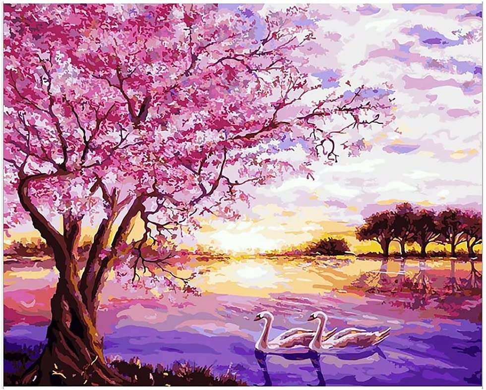 Value-Gift Art Decorative painting Diy Oil Painting,Hica Paint By Number Kits Oil Painting Adults Children Drawing On Canvas By Hand Assemble Wooden Frame