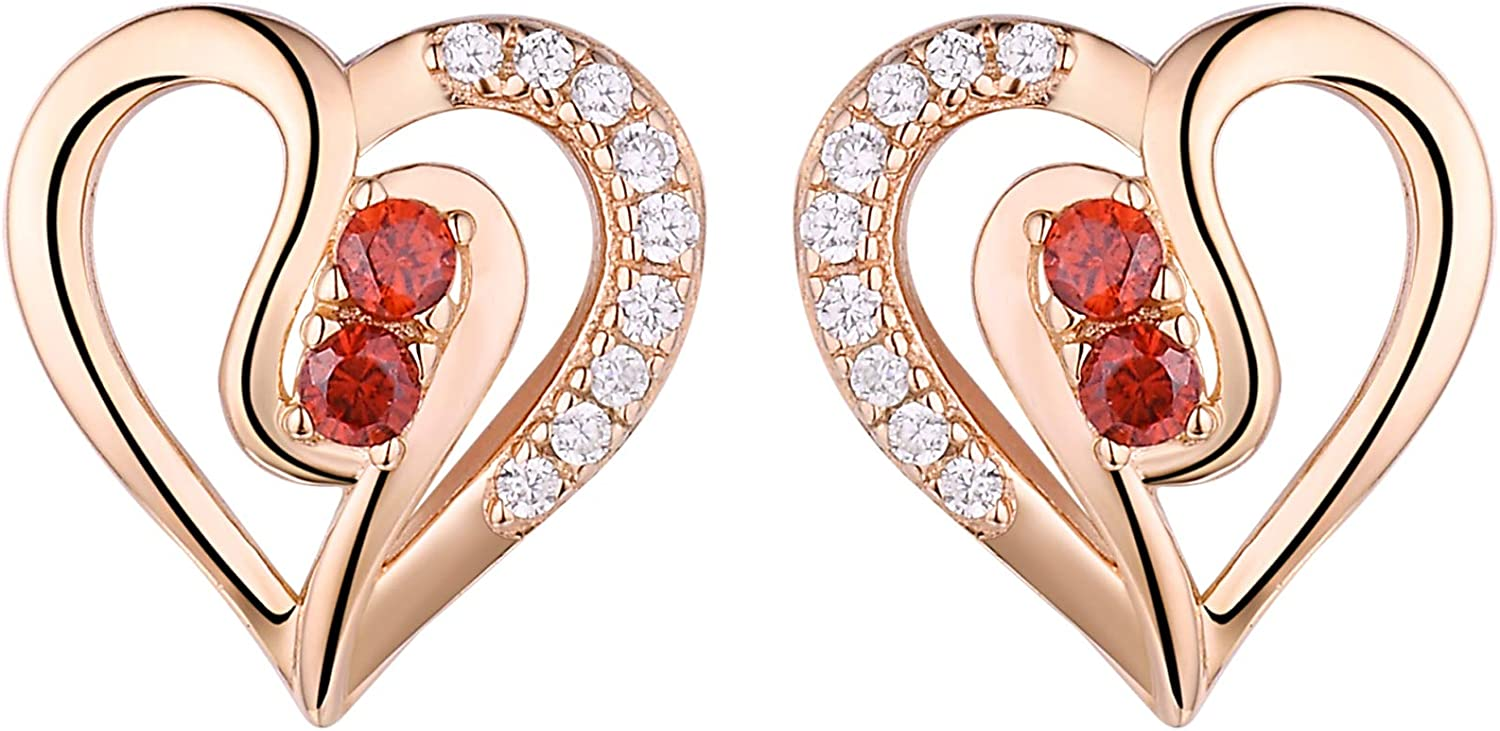 1CT Women/'s Unique Pink Sapphire 14K Y OR W Gold Plated 925 Silver Hoop Earrings
