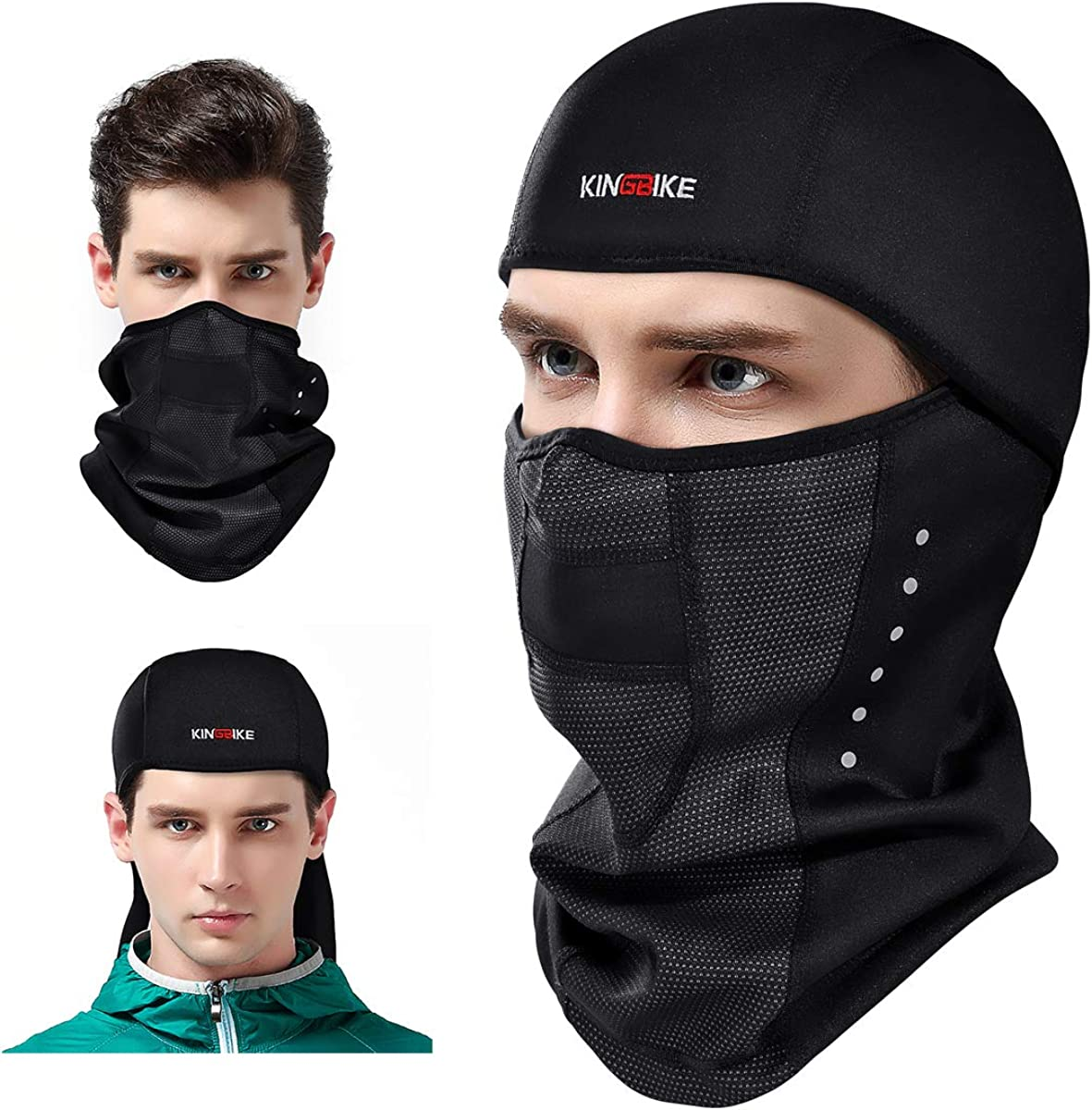 Wind-Resistant Face Mask/& Neck Gaiter,Balaclava Ski Masks,Breathable Tactical Hood,Windproof Face Warmer for Running,Motorcycling,Hiking-Allo
