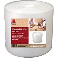 """UBOXES uBoxes Foam Wrap Roll - 12"""" Wide x 150 feet - 1/16"""" - Perforated Every 12"""""""