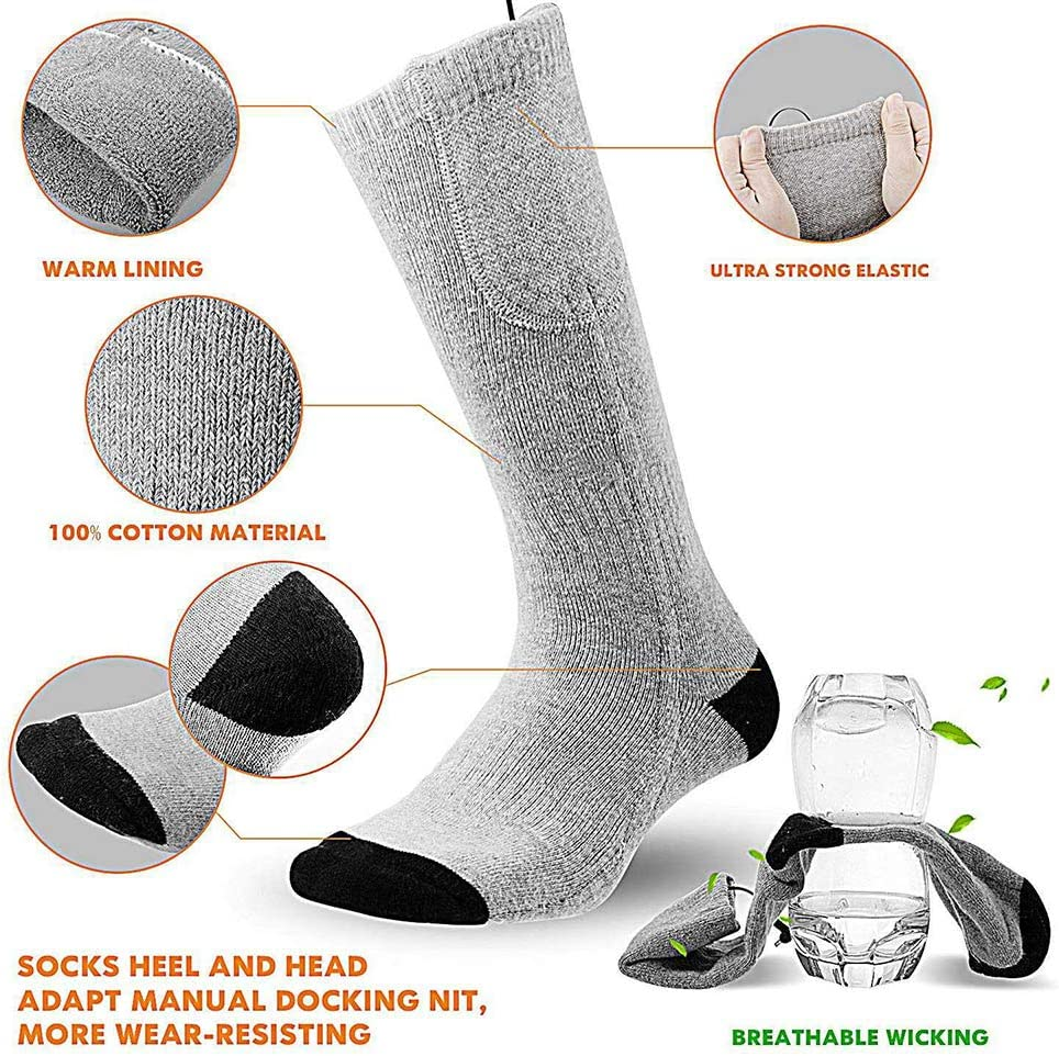 Cold Weather Electric Heating Socks for Outdoor Sport Camping Hiking YOUQING Heated Socks 3-Speed Heating Control Not Included Power Winter Foot Warmer for Men Women