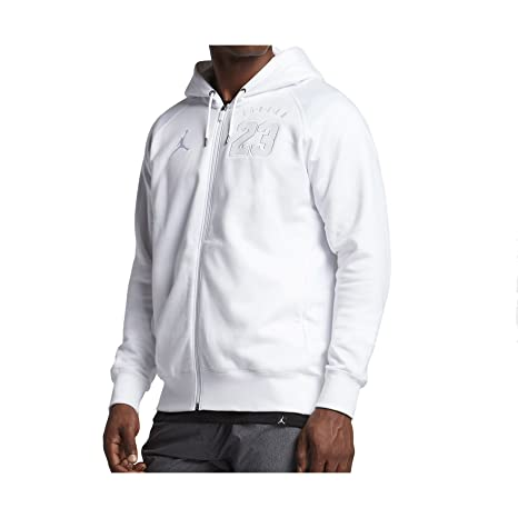 Nike Air Jordan 6 FZ Fleece Hoodie Sudadera, Hombre, Blanco (White),
