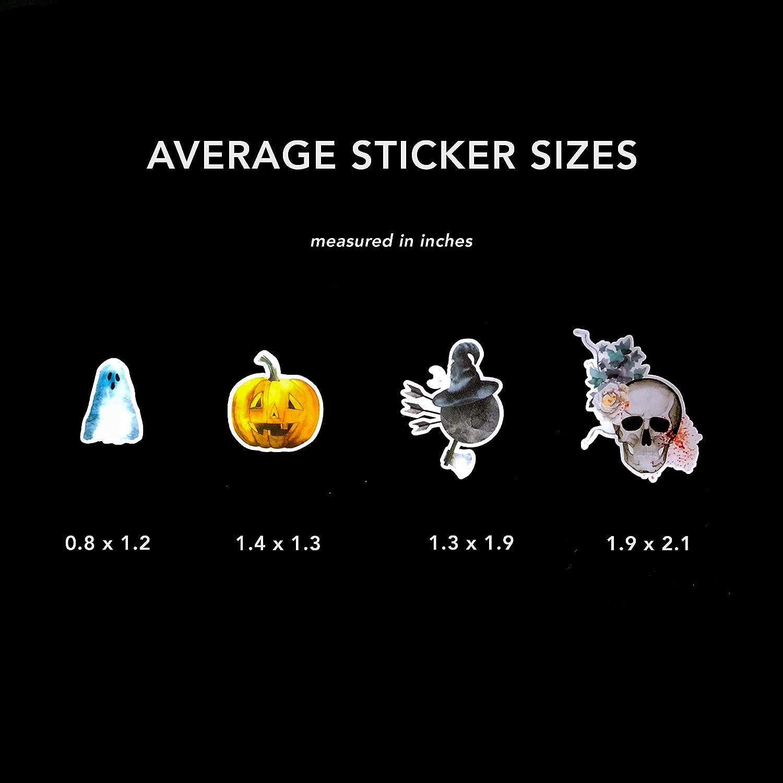 Impermeabili alla Moda Adesivi e Decalcomanie per Halloween con peonia e Teschio Spaventoso Computer Portatili e Telefono per borracce
