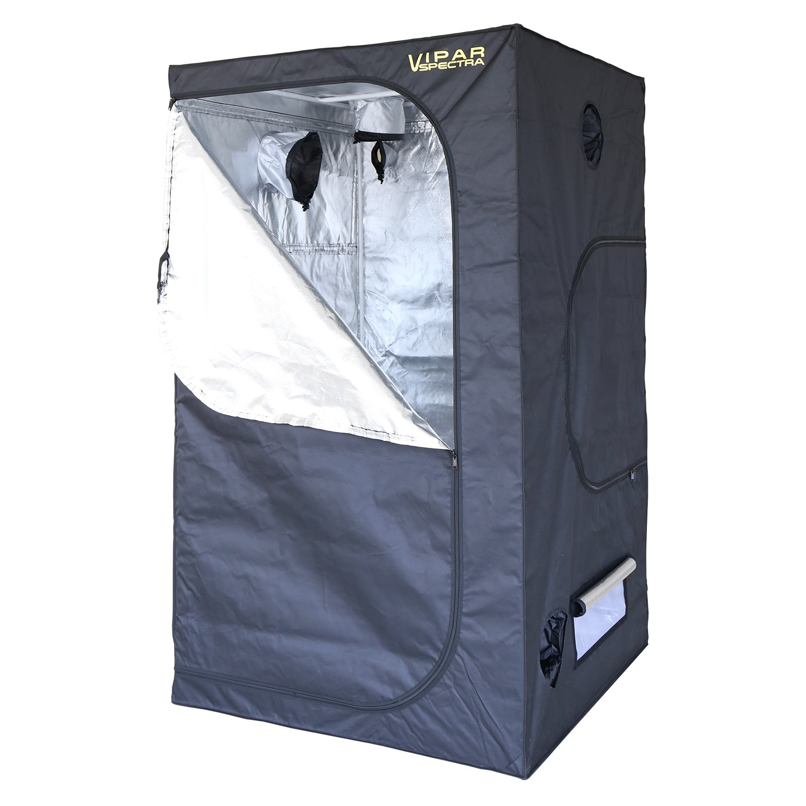 VIPARSPECTRA 48''x48''x80'' Reflective 600D Mylar Grow Tent for Hydroponic Indoor Plant Growing 4'x4'