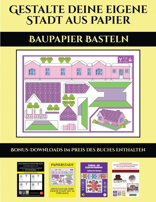 Buy Baupapier Basteln 20 Vollfarbige Vorlagen F R Zu Hause