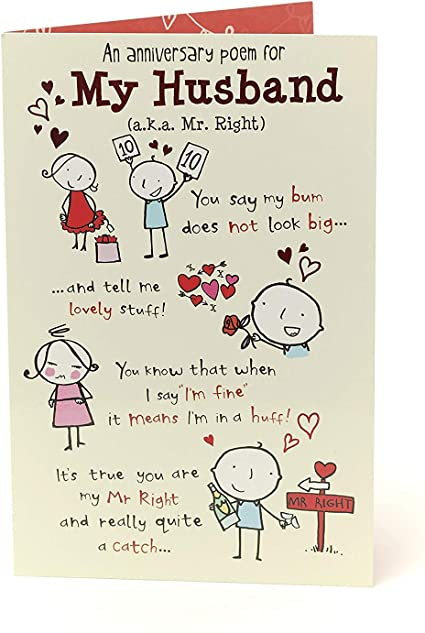 Anniversario Matrimonio Regalo Marito.Biglietto Divertente Per Anniversario Di Marito Anniversario Di