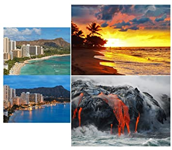 Amazon 3 different scenes of hawaii 3d lenticular postcard 3 different scenes of hawaii 3d lenticular postcard greeting cards m4hsunfo