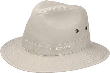 Stetson Sombrero Organic Cotton Traveller Hombre - de Tela Sol con ...