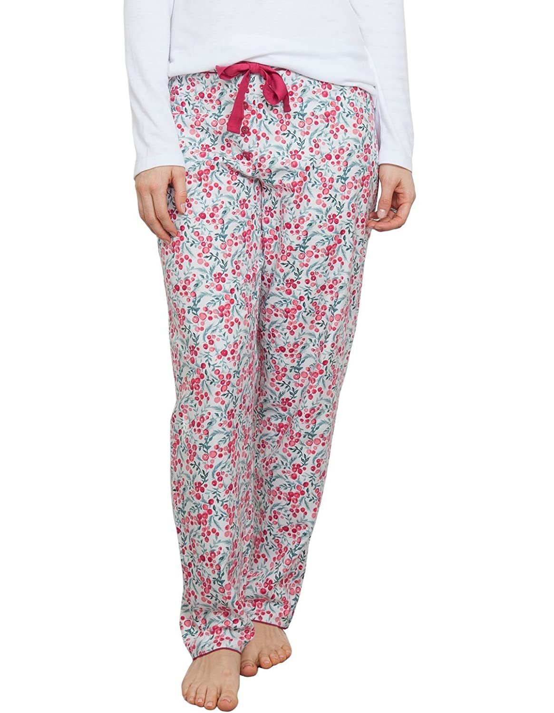 TALLA 42. Cyberjammies 3850 Women's Holly White Berry Print Pajama Pyjama Pant