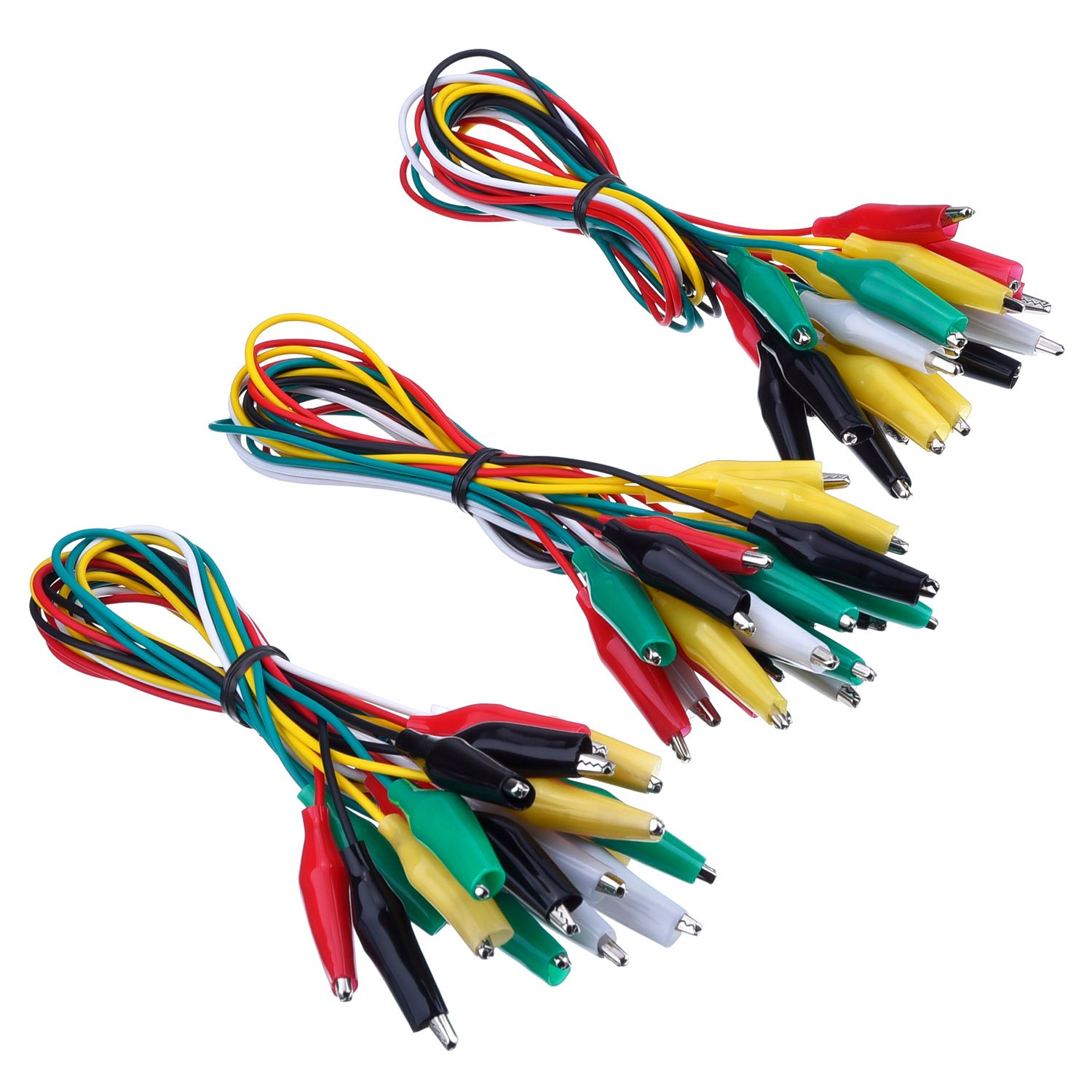 eBoot 30 Pieces Test Leads with Alligator Clips Set Insulated Test ...