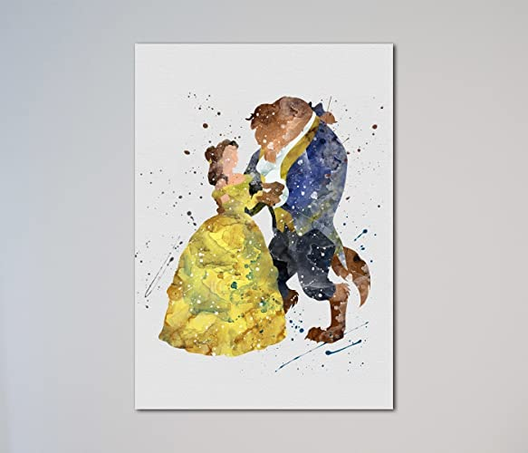 Beauty And The Beast Dancing Belle Love Gift Print