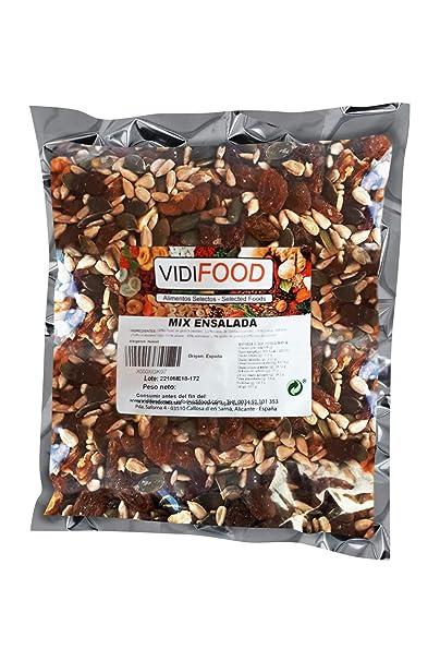 Mix de Frutas y Nueces para ensaladas - 1kg - Mezcla de Semillas de Girasol, Semillas de Calabaza, Pasas, Nueces, Albaricoques deshidratados y ...