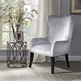 Madison Park Hancock Button Tufted Back Accent Chair - Silver