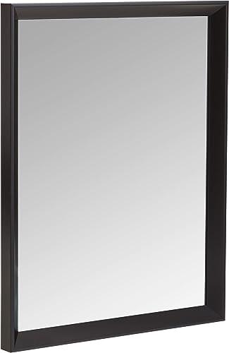 AmazonBasics Rectangular Wall Mirror 16 x 20 – Peaked Trim, Black