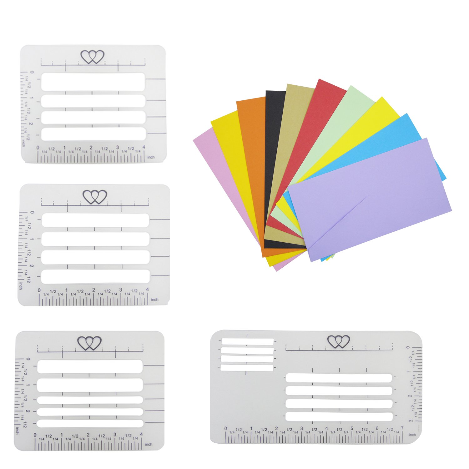 Letter Addressing Stencil.4pcs Envelope Addressing Stencil With 10pcs Dl Small Colored Envelopes 8 6 X 4 3 Inch Granmp 4 Style Letter Addressing Guide Template Stencil With