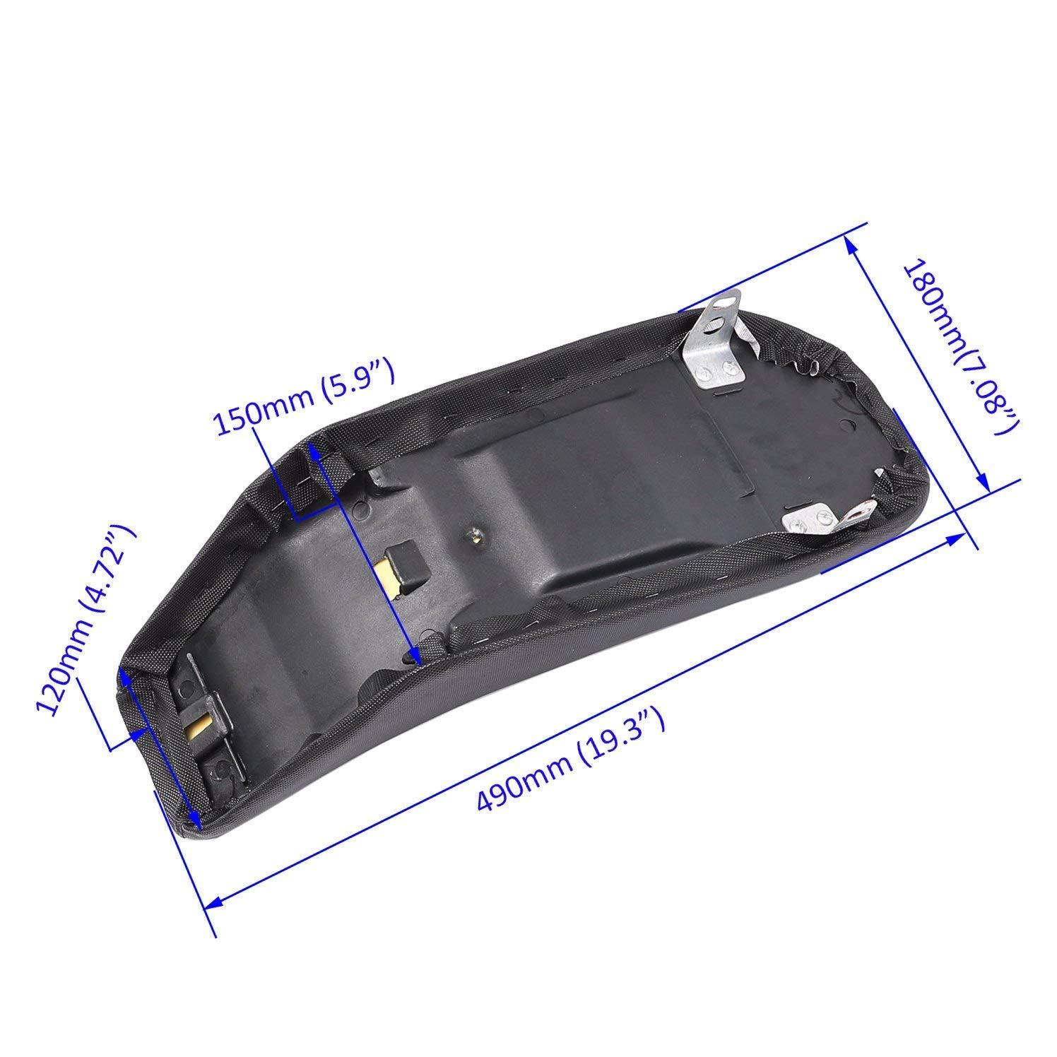 4Green+3White WPHMOTO Fuel Gas Tank /& Plastic Body Fender Fairing Kit /& Seat /& Cap for Kawasaki Kx 65 KX65