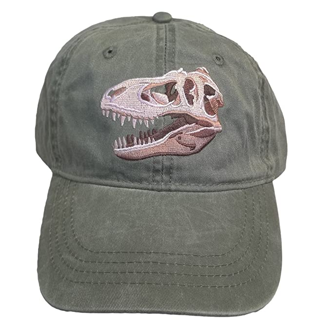 Image Unavailable. Image not available for. Color  ECO Wear T-Rex  Tyrannosaurus Dinosaur Embroidered Baseball Cap a67ea7e2d238