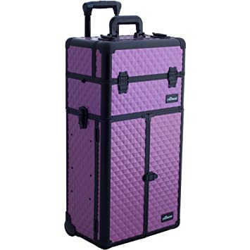 f1a9732ae65e Amazon.com   Sunrise Montebello 2-In-1 Rolling Makeup Case Professional  Nail Travel Organizer Box