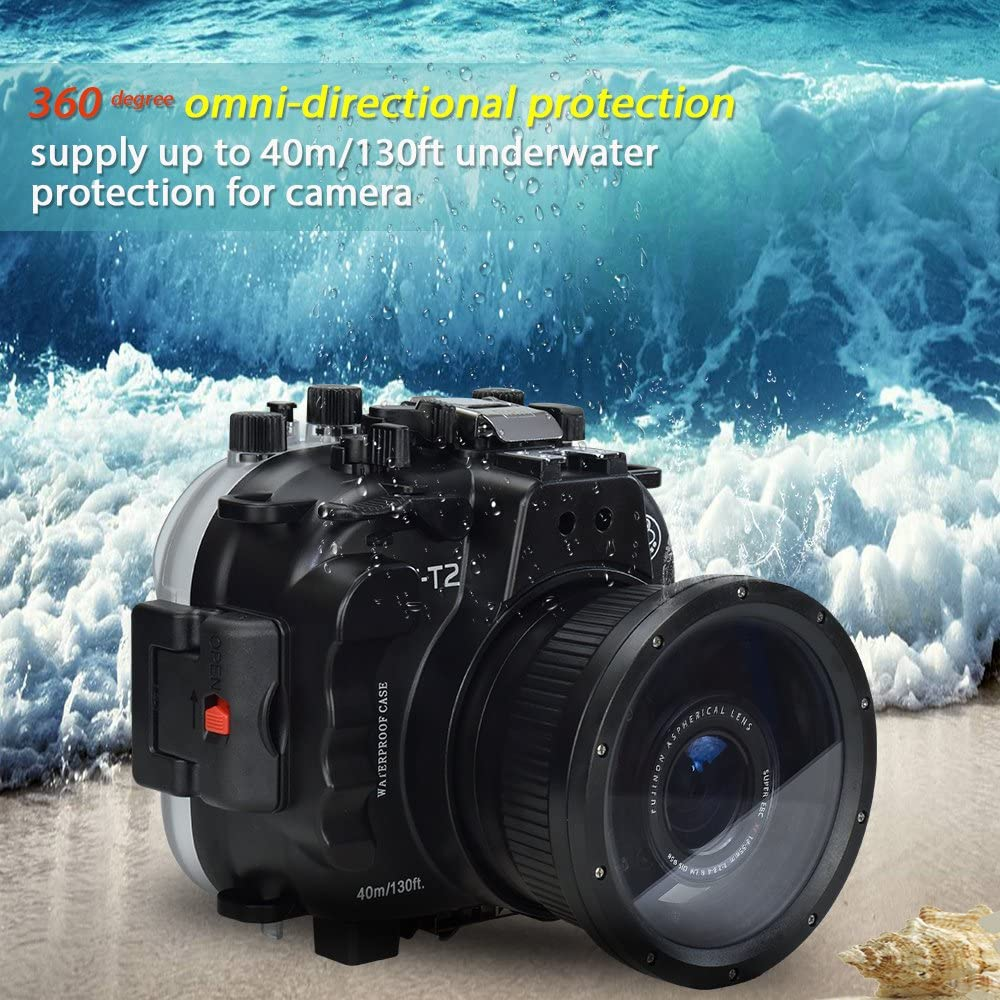 Ranas de mar para Fujifilm X-T2 40M/130FT Carcasa submarina para ...