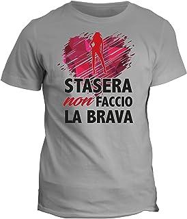 fashwork Tshirt Stasera Non Faccio la Brava - Addio al Nubilato - in Cotone by fshY19