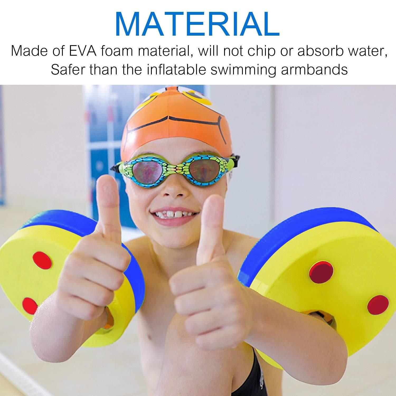Mture Discos Flotantes Manguitos para Ni/ños que Aprenden a nadar 6 Piezas Espuma Mangas del Brazo de Flotabilidad C/írculos Anillos