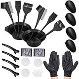 Hair Dye Coloring DIY Beauty Salon Tool Kit - 21 Pieces Hair Tinting Bowl, Dye Brush, Ear Cover, Gloves for DIY Salon…