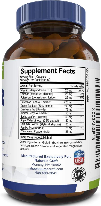 Water Away Diuretic Supplement with Dandelion Leaf – Bloat Relief Pills Weight Loss Relieve Swelling Water Retention – Natural Green Tea Extract Potassium Vitamin B6 for Men & Women