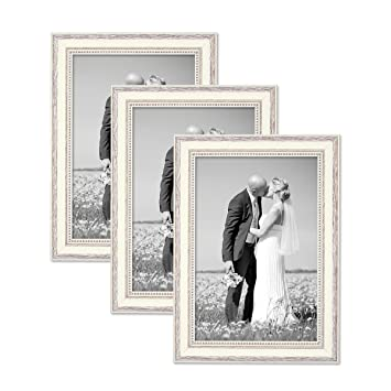 Amazoncom Photolini Set Of 3 Picture Frames With Dimensions Of 8 X