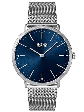 096eaef86096d Amazon.com  Hugo Boss Horizon Blue Dial Stainless Steel Men s Watch ...