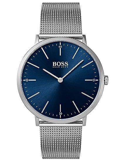 Hugo BOSS Reloj Análogo clásico para Hombre de Cuarzo con Correa en Acero Inoxidable 1513541: Amazon.es: Relojes