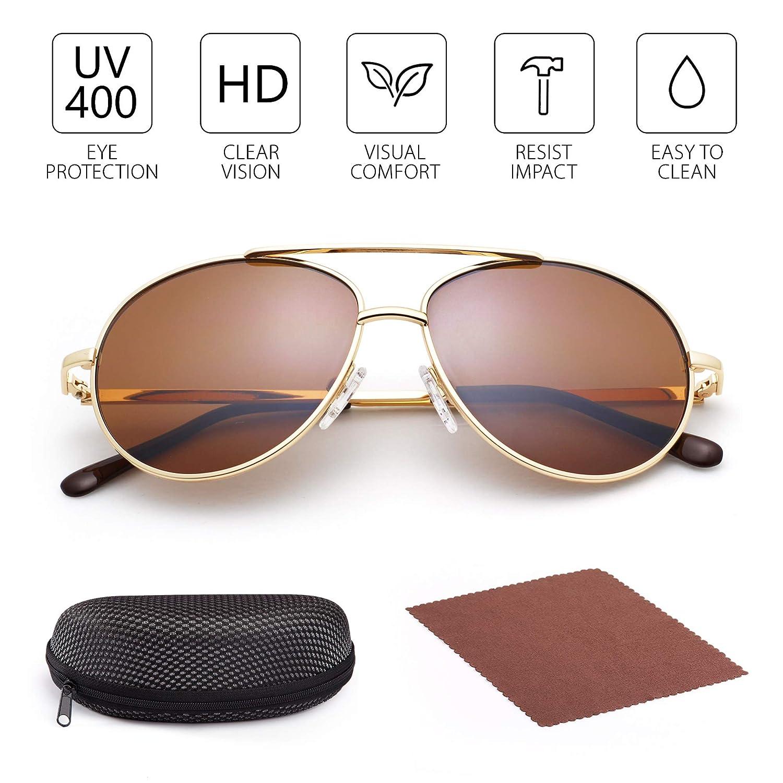 Amazon.com: Gafas de sol Aviator para niños y niñas, gafas ...