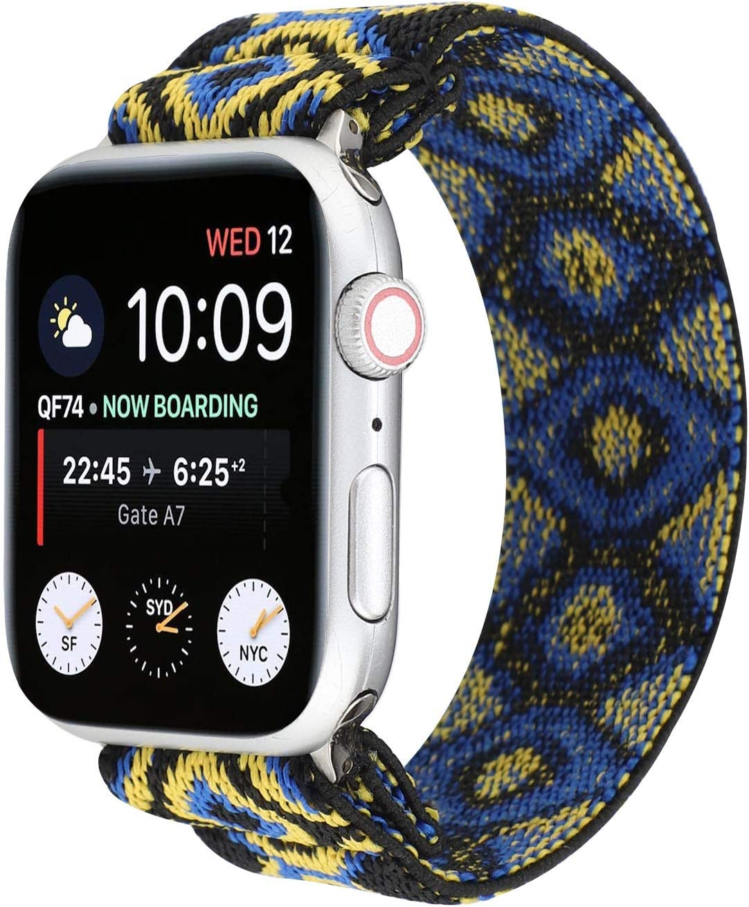 OnederHome Stretchy Sport Loop Strap Compatible for Apple Watch Band 38mm 40mm 42mm 44mm iWatch Series 6/SE/5/4/3/2/1 Stretch Elastics Wristbelt (Eye, 38/40mm for Small Wrist)