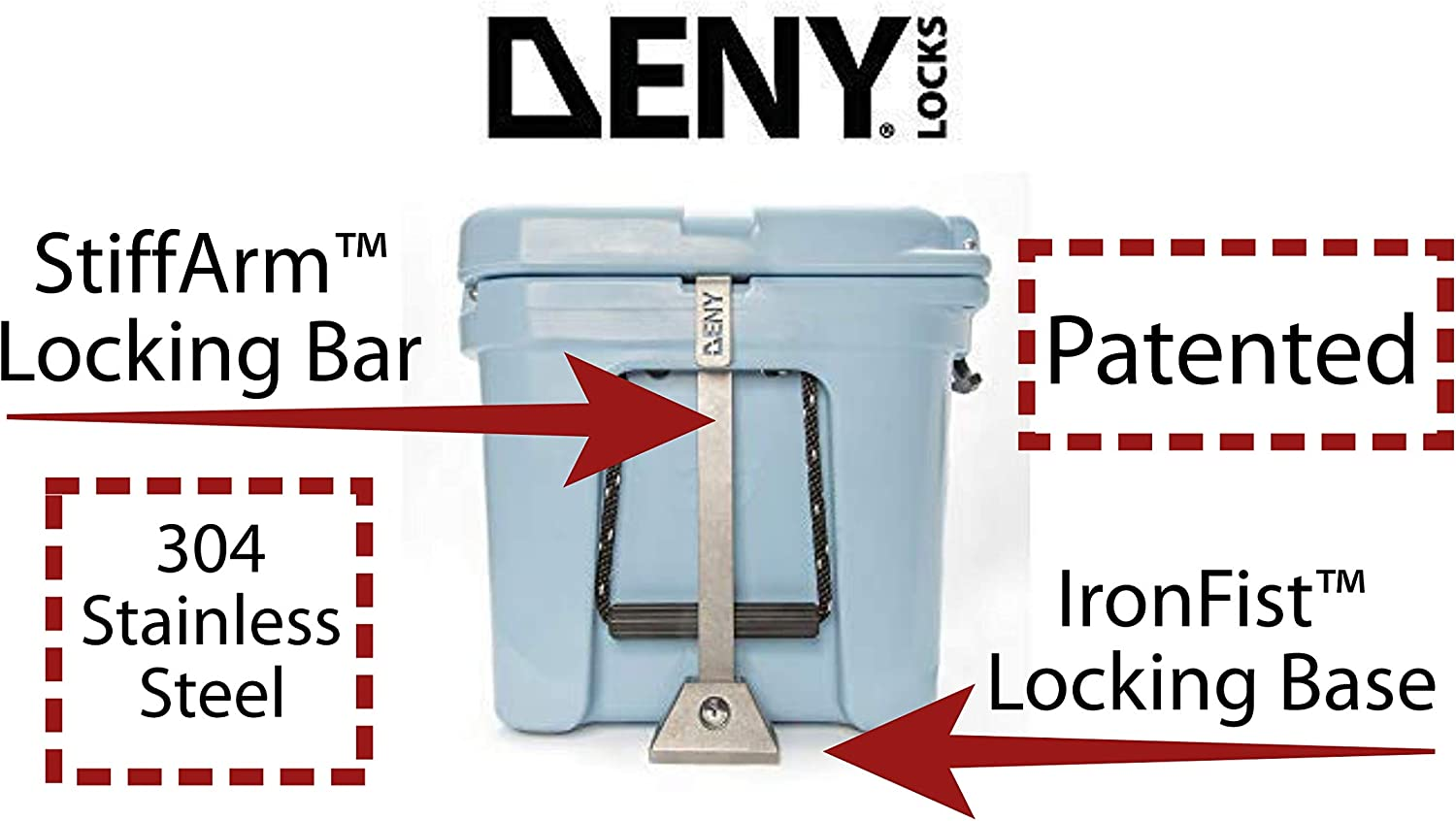 DENY Security Lock Set for YETI Coolers