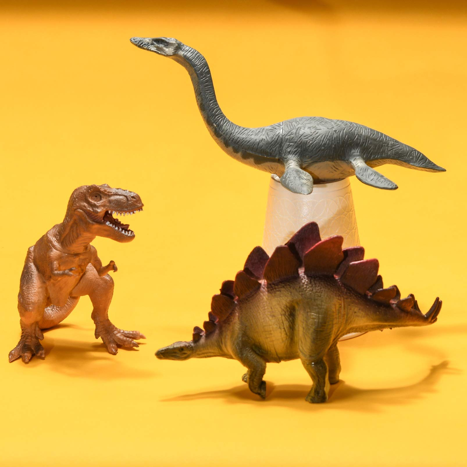 Prextex Realistic Looking 10'' Dinosaurs Pack of 12 Large Plastic Assorted Dinosaur Figures by Prextex (Image #6)