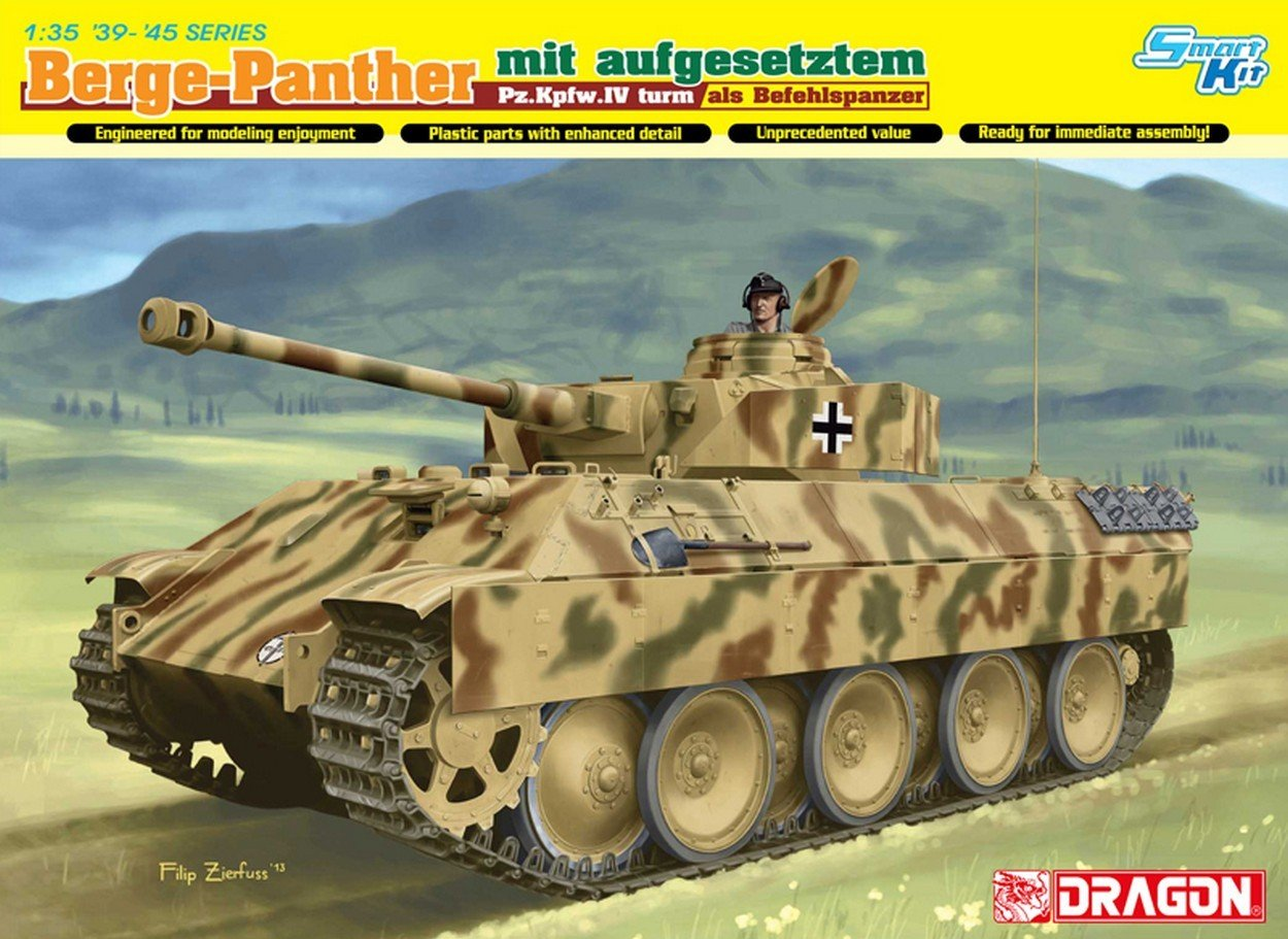 Dragon D6835 Berge Panther MIT.PZ KPFW.IV Turm KIT 1:35 MODELLINO Model
