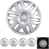 BDK Wheel Guards – (4 Pack) Hubcaps for Car Accessories Wheel Covers Snap Clip-On Auto Tire Rim Replacement for 16 inch…