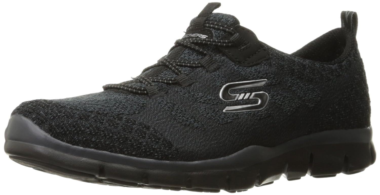 Skechers Sport Women's Gratis Bungee Fashion Sneaker B01AAVNGE0 5 B(M) US|Black Knit