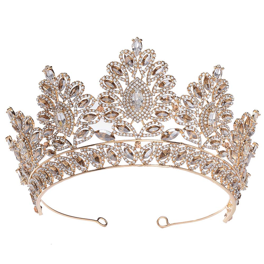 S SNUOY Rhinestone Crystal Queen Crown Bridal Wedding Tiaras and Crowns for Women Prom Pageant Princess Tiara by S SNUOY