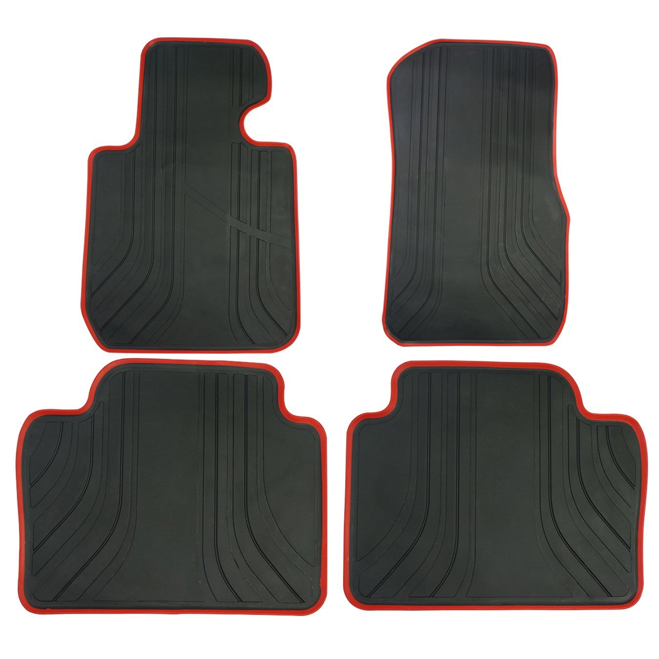 biosp Fit 2014-2017 BMW 3 Series Floor Mats Front and Rear Set For BMW 316i 318i 320i 325i 328i Heavy Duty Rubber Car Carpet All Weather
