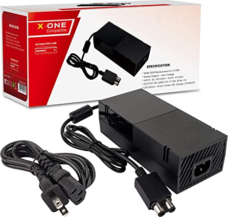 Xbox One Power Supply Brick, AC Adapter Power Supply Charger Replacement for Xbox One