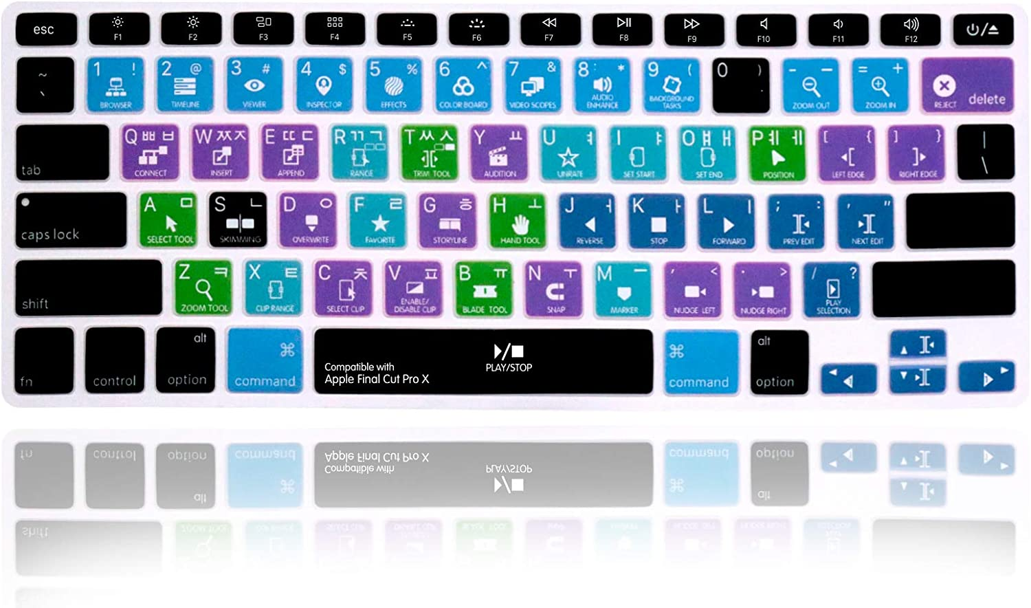 MMDW Apple Final Cut Pro Silicone Keyboard Cover Skin for MacBook Pro 13