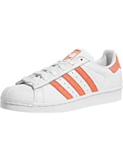 adidas Superstar White Green Orange 39: Amazon.