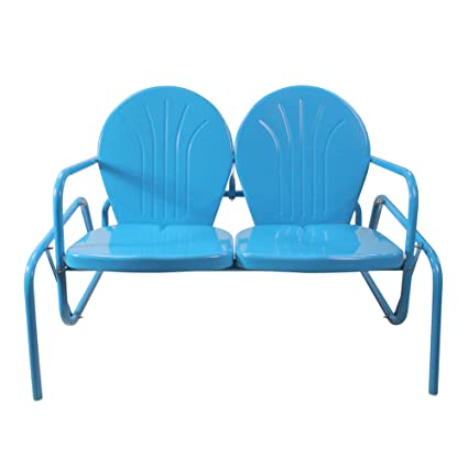 Pleasant Amazon Com Northlight 47 Turquoise Blue Retro Metal Tulip Caraccident5 Cool Chair Designs And Ideas Caraccident5Info