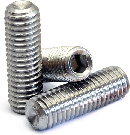 M5 Grub Qty 20 DIN 916 CUP Point Socket SET SCREWS Allen 5mm x 0.80 x 5mm
